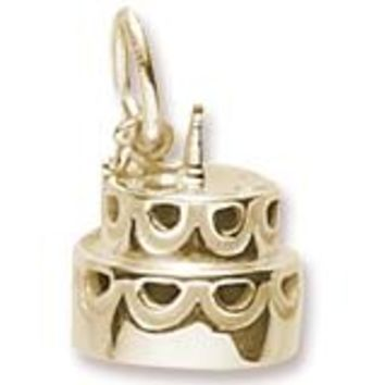 Cake Charm in Yellow Gold Plated