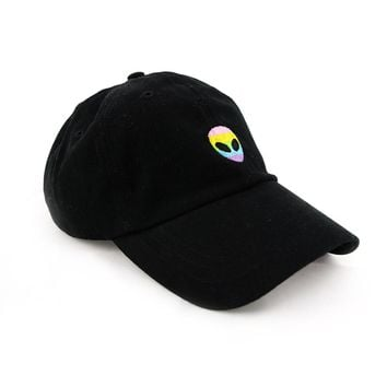Rainbow Alien Dad Hat