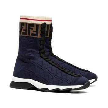 Navy Blue Rockokos by Fendi