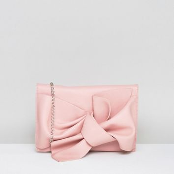 Missguided Bow Clutch Bag at asos.com