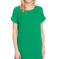 Summer Emerald Shift Dress
