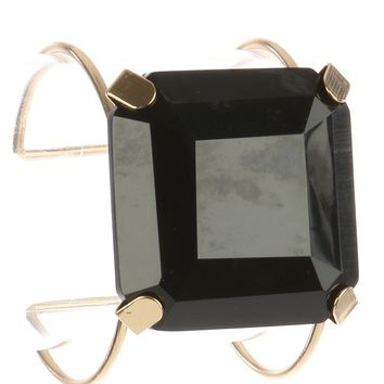 Cushion Cut Lucite Stone Wire Cuff Bracelet 819
