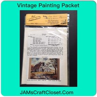 Vintage Painting Packet #28 Aida Barn White Barn with Rusted Tin Roof