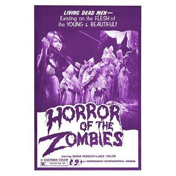 horror of zombies poster Metal Sign Wall Art 8in x 12in