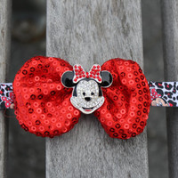 Minnie Mouse Headband- Baby Headband- Girl Headband-