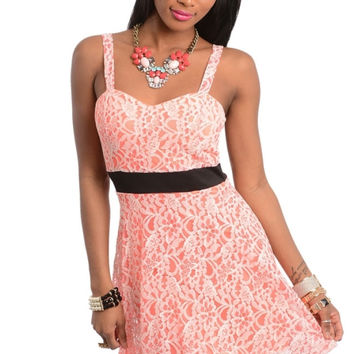 Sweetheart Lace A-line Dress