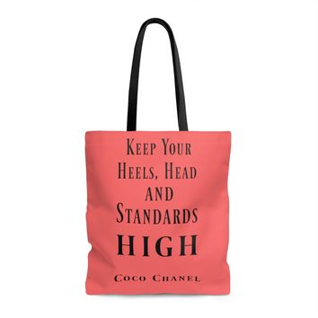 Coco Chanel Quote Tote Bag