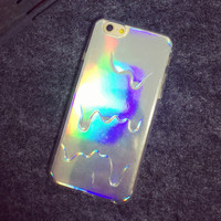 Liquid flow mobile phone case for iphone 5 5s SE 6 6s 6 plus 6s plus + Nice gift box 072701