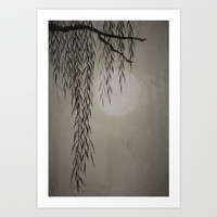 Willow in the moonlight Art Print by Color and Color