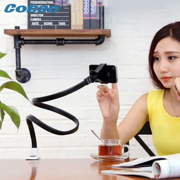 Cobao universal long arm mobile holder stand flexible foldable desk stand mount holder for smartphone mobile phone accessories