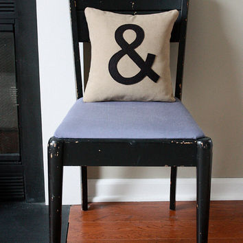 Ampersand Pillow by shopdirtsa on Etsy