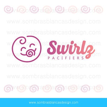 OOAK Premade Logo Design - Swirl Baby - Perfect for a baby accessories brand or a motherhood blog