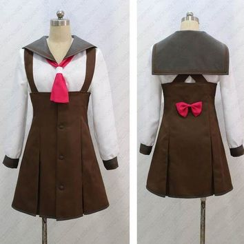 DCCKH6B Bakemonogatari Sengoku Nadeko school uniform Cosplay Costume Custom Made