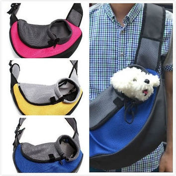 Pet Dog Cat Puppy Carrier Mesh Comfort Travel Outdoor Tote Shoulder Bag Sling Backpack 1929568132