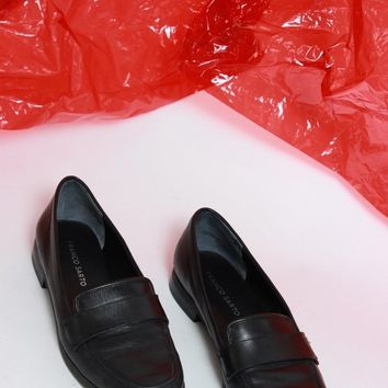 Classic Black Loafers / Size 8