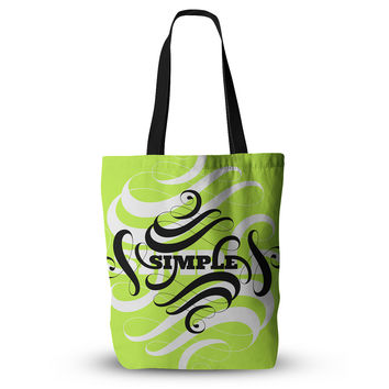 "Roberlan ""Simple"" Lime Green Everything Tote Bag"