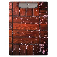 Cool Brown Wooden Ply texture With Wintry Snow Ice Clipboard