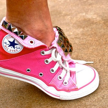 Studded Converse - Pink - Rare Vintage Converse