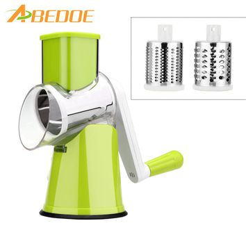 ABEDOE Vegetable Cutter Slicer Stainless Steel Vegetable Chopper Manual Potato Machine Cheese Grater For Carrot Potato Vegetable