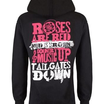 Hoodie: Country Music Up Tailgates Down