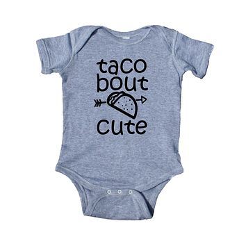 Taco Bout Cute Baby Bodysuit Funny Newborn Infant Girl Boy Baby Shower Gift Clothing