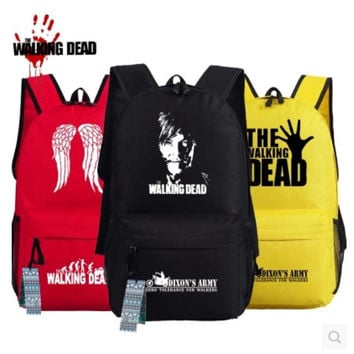 Men Women Unisex The Walking Dead Cosplay Bags oxford Backpack Fashion Schoolbag Travel