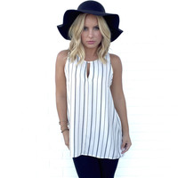 Rather Be Stripe Tunic Blouse