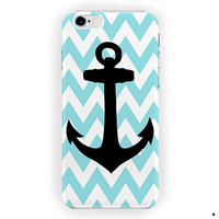 Aqua Blue Anchor Custom Phone Case For iPhone 6 / 6 Plus Case