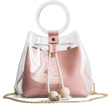 Transparent Drawstring Bag