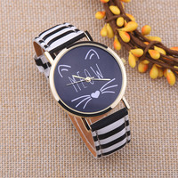 Cat MEOW Leather Watch + Gift Box