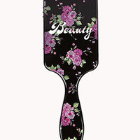 Floral Beauty Paddle Brush