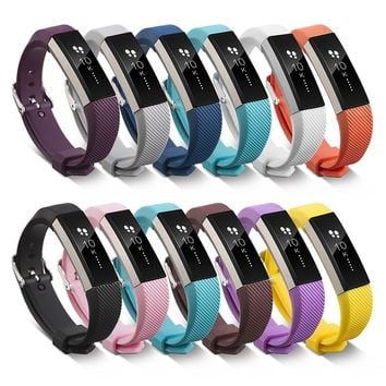 11 Colors Silicone Watchband High Quality Replacement Wrist Band Silicon Strap Clasp For Fitbit Alta HR Smart Wristband Watch