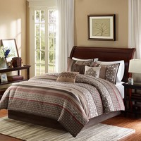 Madison Park Dartmouth 7-pc. Comforter Set - Queen
