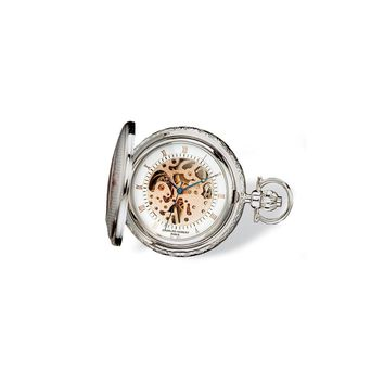 Charles Hubert Two-tone Rose Gold Finish Brass Pocket Watch