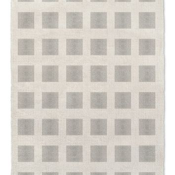 GODS EYE BLOCK PRINT GREY  Area Rug By Becky Bailey