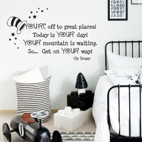 Today is your day. Dr. Seuss Quote Wall Decal