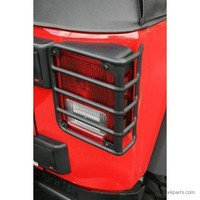 Tail Light Euro Guards, Black; 07-16 Jeep Wrangler JK