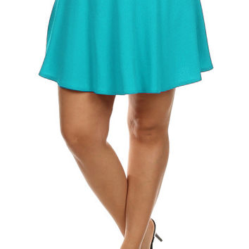 Pleated Tennis Skirt - Mint - Plus Size - 1X - 2X