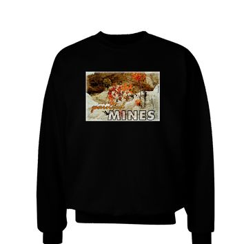 CO Painted Mines with Text Adult Dark Sweatshirt