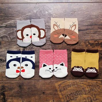 Animal Baby Socks Infant Thick Clothes Warm Unisex Sock Autumn Winter Apparel Photography Props Children Clothing Free Shipping