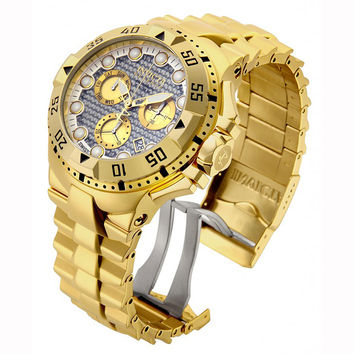 Invicta 15983 Men's Excursion Chrono Silver Tone Dial Gold Tone Steel Dive Watch