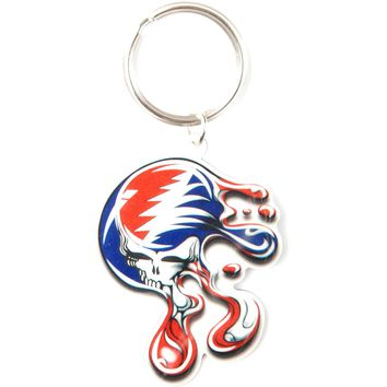 Grateful Dead SYF Melting Plastic Key Chain Multi
