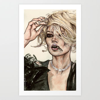 Kate Moss Art Print by Vooce & Kat