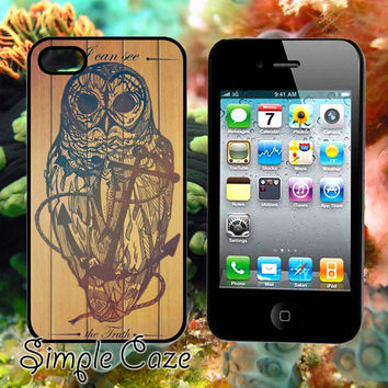 Owl On The Anchor,Accsessories,Case,Cell Phone,iPhone 4/4S,iPhone 5/5S/5C,Samsung Galaxy S3,Samsung Galaxy S4,Rubber/1312Q8