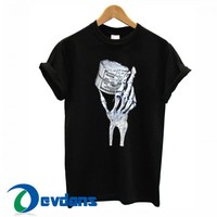 Skeleton Hand Holding T Shirt Women And Men Size S To 3XL