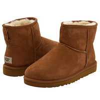 UGG Woman Men Leather Fur Snow Boots Flats Shoes