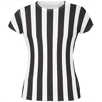 Halloween Referee Costume All Over Juniors T Shirt