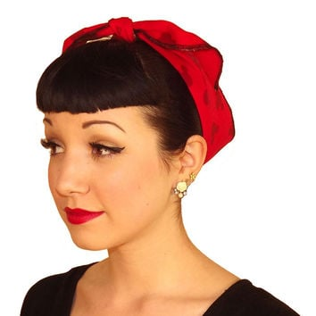 Mickey Ears Fabric Head Wrap Scarf