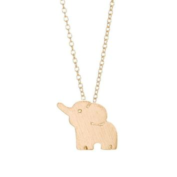 Lucky Elephant Small Pendant Necklace Wedding Bridal Jewelry Cute Animal Fashion Trendy Simple Love Necklaces for Women -N042