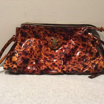 GUCCI Authentic Womens Handbag Clutch Tortoise Shell Leather Bag NEW WITH TAGS